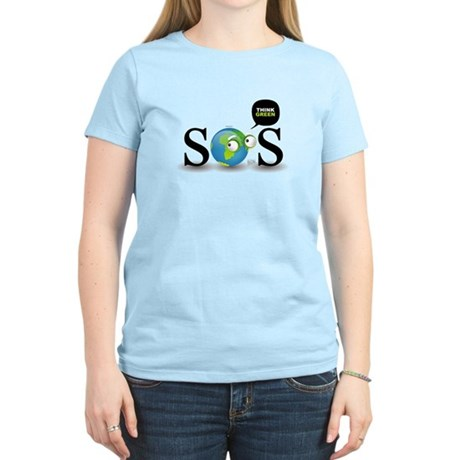 SOS. Think Green. Women's Light T-Shirt