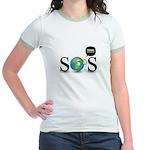 SOS. Think Green. Jr. Ringer T-Shirt