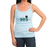 SOS. Think Green. Jr. Spaghetti Tank
