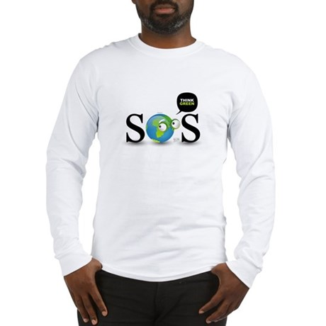SOS. Think Green. Long Sleeve T-Shirt