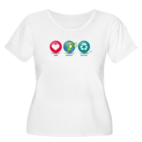 Love, Protect, Recycle Women's Plus Size Scoop Nec