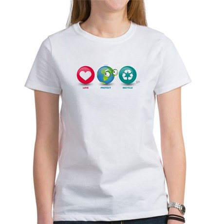 Love, Protect, Recycle Women's T-Shirt
