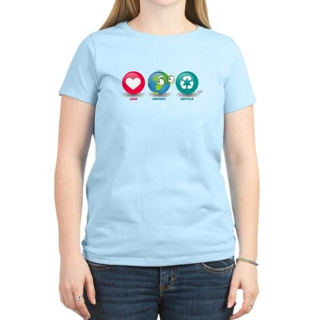 Love, Protect, Recycle Women's Light T-Shirt