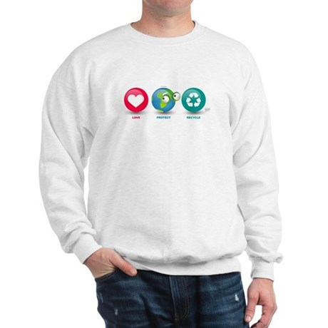 Love, Protect, Recycle Sweatshirt