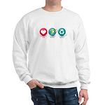 Love, Protect, Recycle Sweatshirt