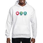 Love, Protect, Recycle Hooded Sweatshirt