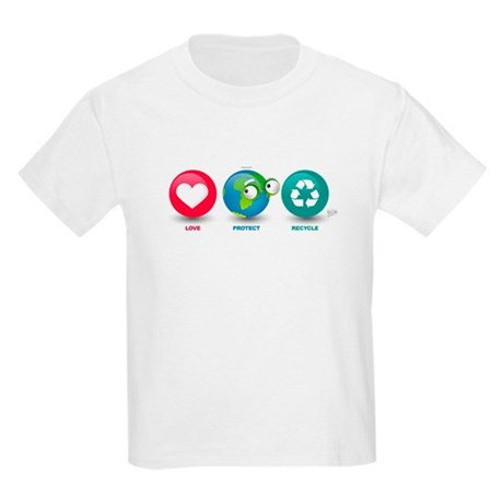 Love, Protect, Recycle Kids Light T-Shirt