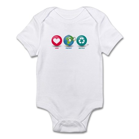 Love, Protect, Recycle Infant Bodysuit