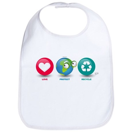 Love, Protect, Recycle Bib