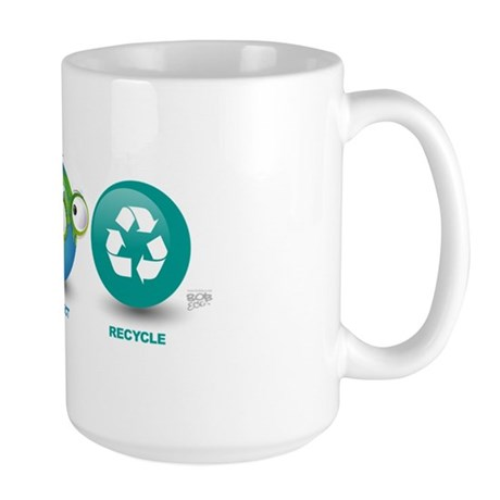 Love, Protect, Recycle Large Mug