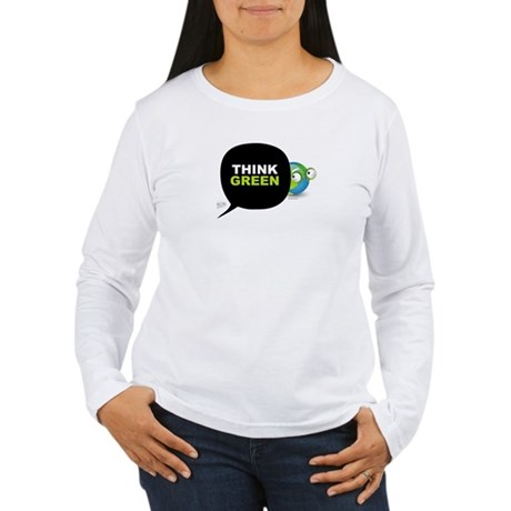 Think Green v3 Women's Long Sleeve T-Shirt
