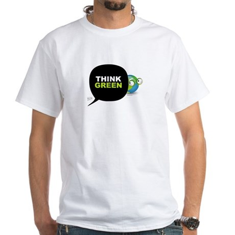 Think Green v3 White T-Shirt
