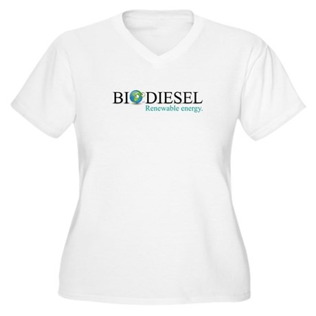 Biodiesel Women's Plus Size V-Neck T-Shirt