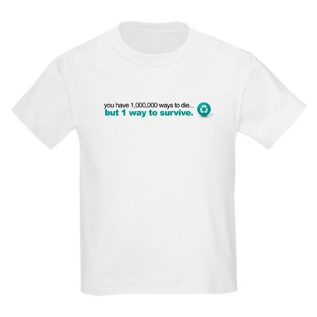 Survive by recycling Kids Light T-Shirt
