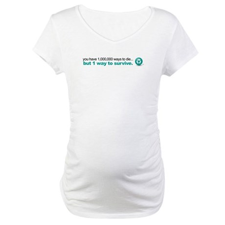 Survive by recycling Maternity T-Shirt