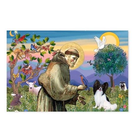 St Francis & Papillon Postcards (Package of 8)