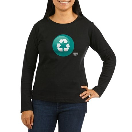 Recycle Women's Long Sleeve Dark T-Shirt