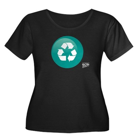 Recycle Women's Plus Size Scoop Neck Dark T-Sh