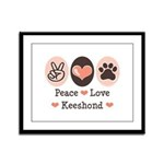 Peace Love Keeshond Framed Panel Print