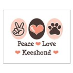 Peace Love Keeshond Small Poster