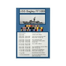 USS Bagley Ship's Awards Rectangle Magnet(100 pck)