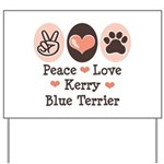 Peace Love Kerry Blue Terrier Yard Sign