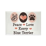 Peace Love Kerry Blue Terrier Rectangle Magnet (10