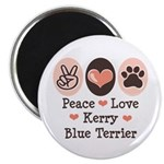 Peace Love Kerry Blue Terrier 2.25