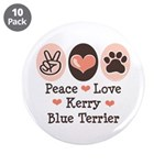 Peace Love Kerry Blue Terrier 3.5