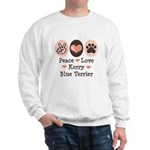 Peace Love Kerry Blue Terrier Sweatshirt