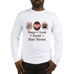 Peace Love Kerry Blue Terrier Long Sleeve T-Shirt