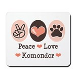 Peace Love Komondor Mousepad