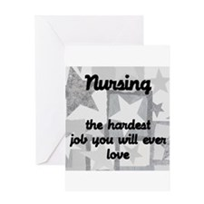 Hardest job you love Greeting Card