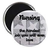 "Hardest job you love 2.25"" Magnet (10 pack)"