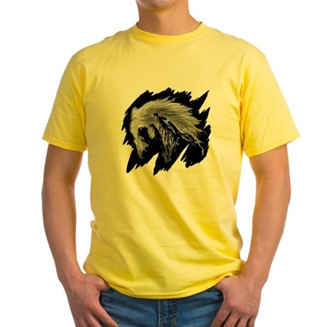 Horse Sketch Yellow T-Shirt