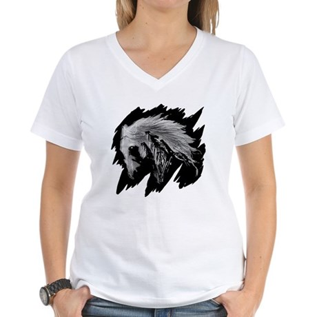 Horse Sketch Women's V-Neck T-Shirt