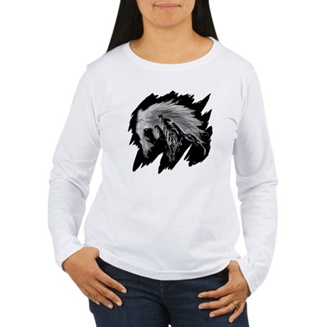 Horse Sketch Women's Long Sleeve T-Shirt