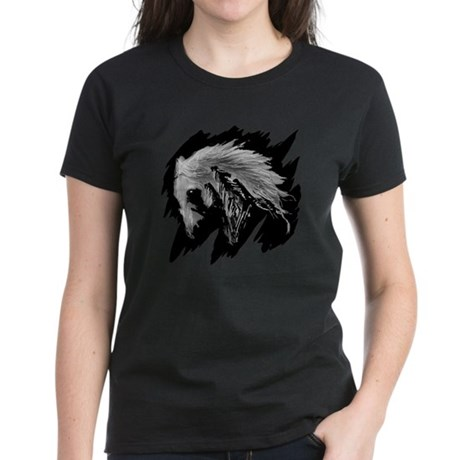 Horse Sketch Women's Dark T-Shirt