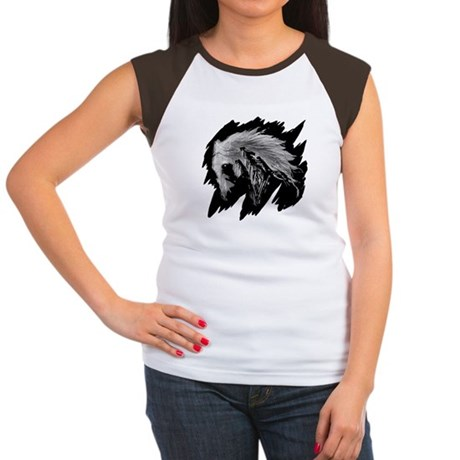 Horse Sketch Women's Cap Sleeve T-Shirt