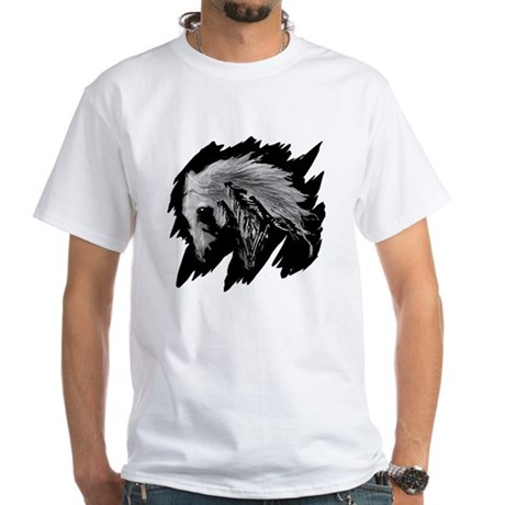 Horse Sketch White T-Shirt