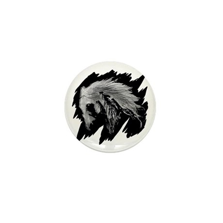 Horse Sketch Mini Button (100 pack)
