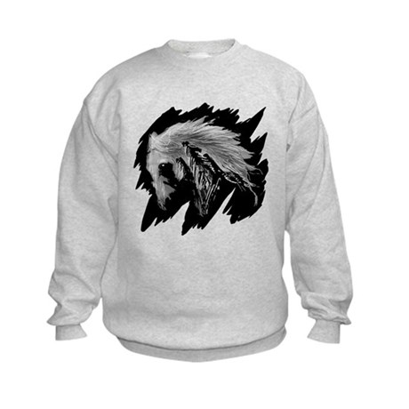 Horse Sketch Kids Sweatshirt