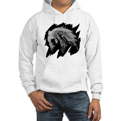 Horse Sketch Hooded Sweatshirt