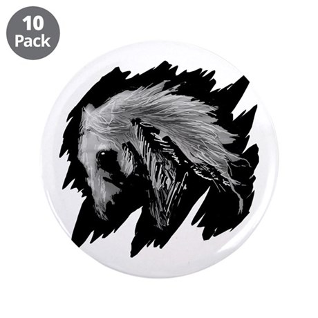 Horse Sketch 3.5&quot; Button (10 pack)