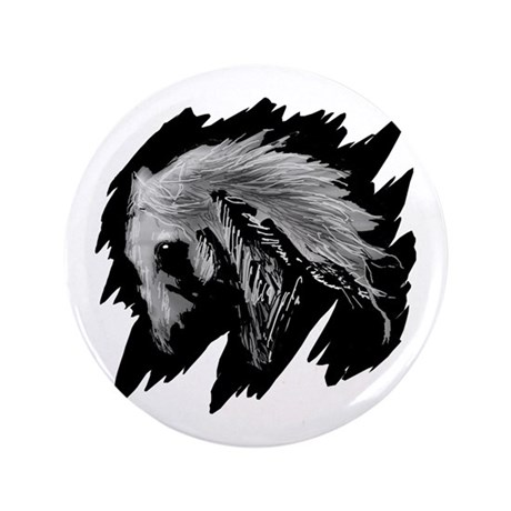 Horse Sketch 3.5&quot; Button (100 pack)