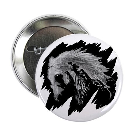 Horse Sketch 2.25&quot; Button (100 pack)