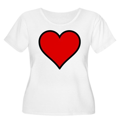 Simple Heart Women's Plus Size Scoop Neck T-Shirt