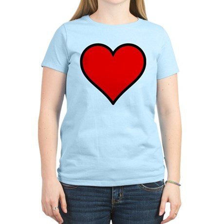 Simple Heart Women's Light T-Shirt