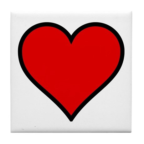 Simple Heart Tile Coaster