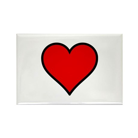 Simple Heart Rectangle Magnet (100 pack)
